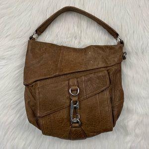 LAMB Gable Hobo Bag Brown Leather Gwen Stefani